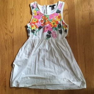 Forever 21 Dress/Tunic with Floral Screen Print